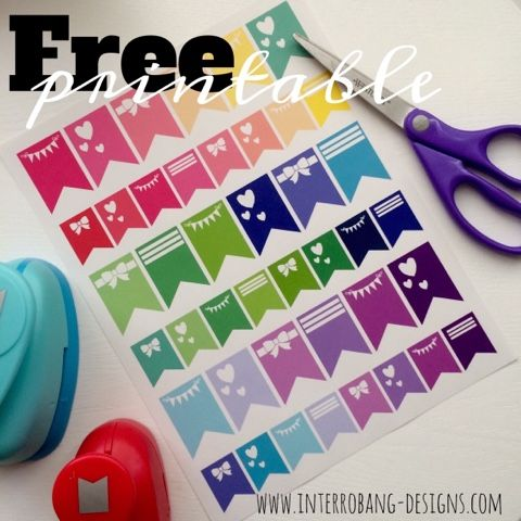 Free printable banners. Planner stickers and decoration by Interrobang Designs.