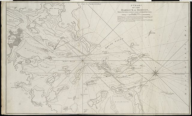 A chart of the Harbour of Boston, with the soundings, sailing-marks and other directions by Norman B. Leventhal Map Center at the BPL, via F...