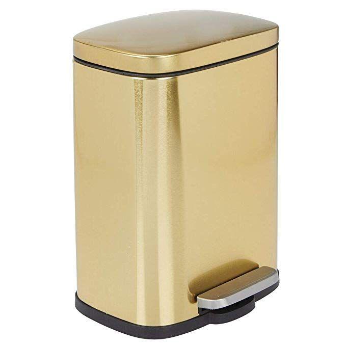 Amazon.com: mDesign 1.3 Gallons Rectangular Step Trash Can ...