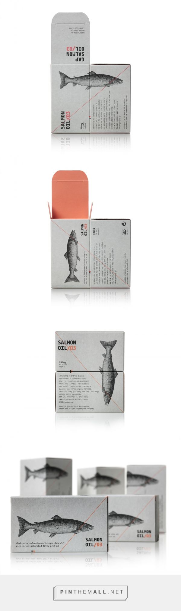 The Dieline Awards 2015: 1st Place Health, Cosmetics, Fragrance, Fashion- Salmon Oil — The Dieline - Branding & Packaging Designed by mousegraphics  Client: GAP  Country: Greece  City: Athens