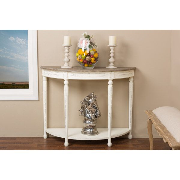 124$ Vologne Wood Traditional French Console Table