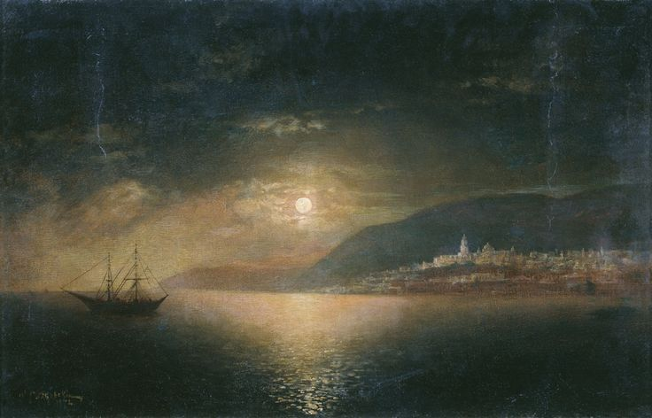 Судковский Руфин Гаврилович (1850 - 1885) - Лунная ночь, 1872