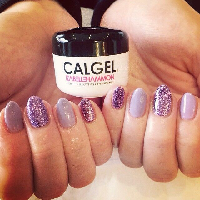 Lilac calgel glitter