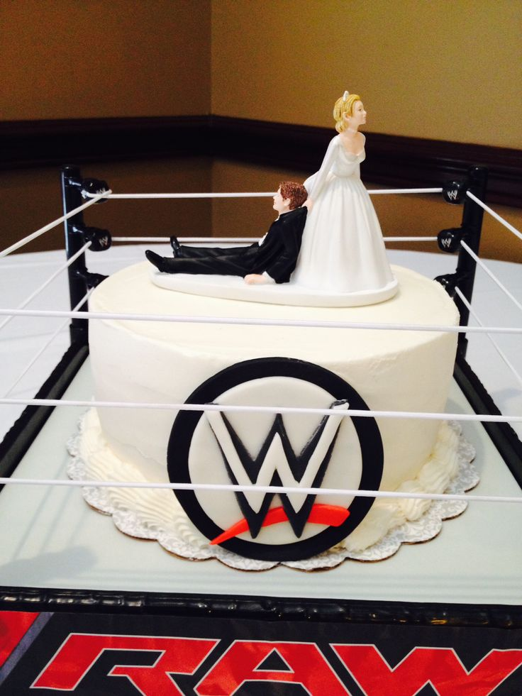wwe cake toppers grooms cake buttercream iced with topper and fondant 1503