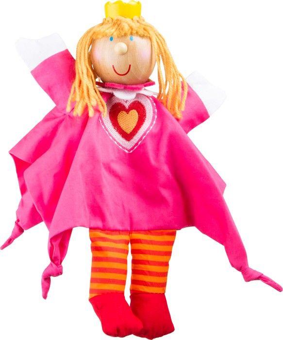 Vorhang auf für das Kasperletheater! Verkleidet als Prinzessin, wird diese Handpuppe mit Handgeschicklichkeit und Fingerfertigkeit, zum Leben erweckt. Spannende Kasperle-Theaterstücke warten auf die Kleinen.  ca. 27 x 26 x 6 cm