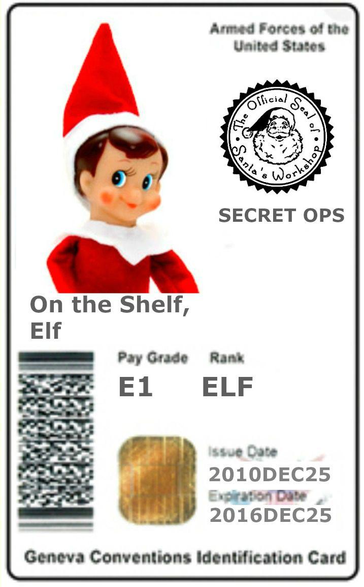 ELF On The Shelf Card 3ELF On The Shelf Card 3 USA