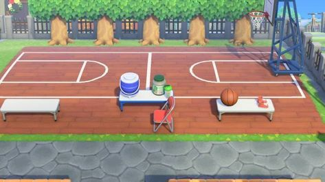 Basketball Court Path Overlay Designed By Yuki Acnh Custom Designs In 2020 Animal Crossing Game Animal Crossing Animal Crossing Qr