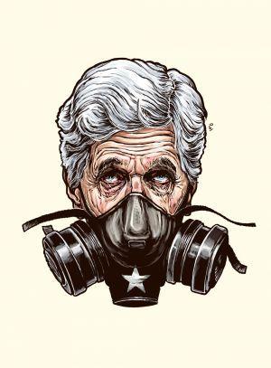 John Kerry/kresba Pavel Reisenauer