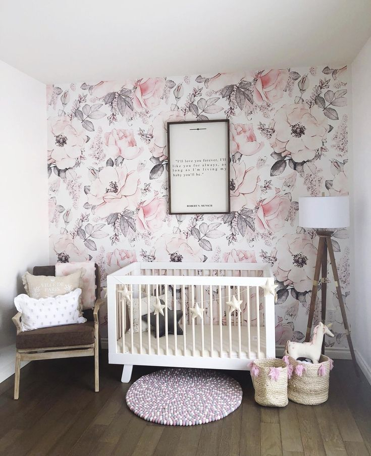 Giant Pink And White Peony Removable Wallpaper Peel And Stick Etsy Baby Girl Wallpaper Nursery Wallpaper Girl Room