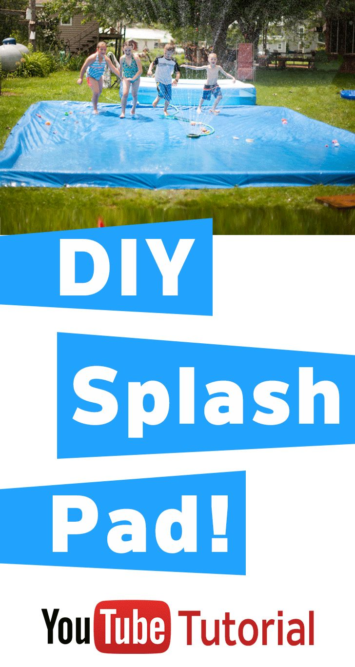 "Easy way to DIY a Splash Pad to ""contain"" the water when you use the sprinkler! Hours of fun! Great for the littles!"