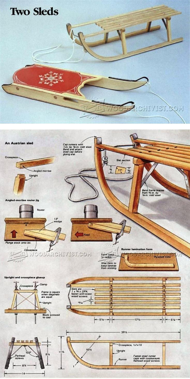 DIY Wooden Sleigh - Children's Plans and Projects | WoodArchivist.com