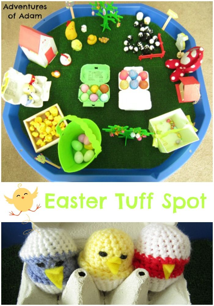 Day 5 of our Tuff Spot A-Z Challenge means the letter E. It is the perfect time of year to create an Easter Tuff Spot. It doesn't seem five minutes ago we