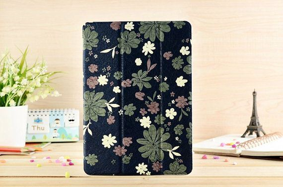 Green Leaves with Floral Flip Leather Case for by SereneLifeDesign, $33.99