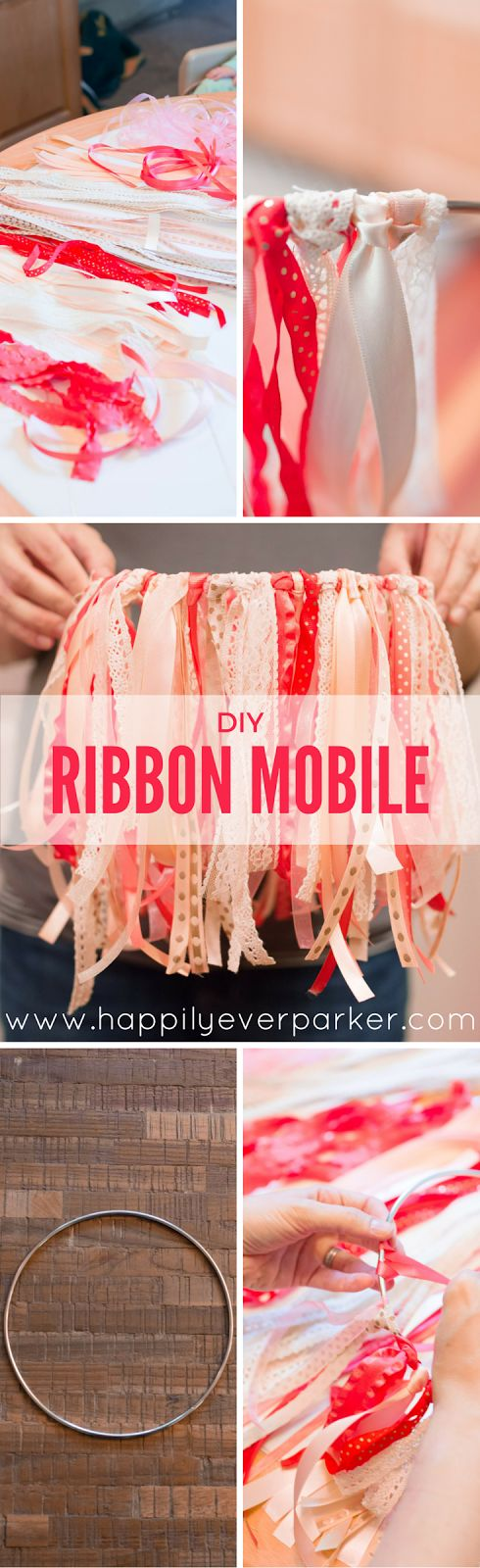 Happily Ever Parker | DIY Ribbon Mobile