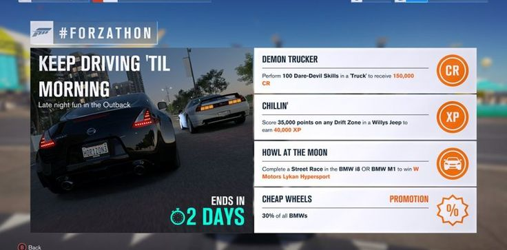Forza Horizon 3's latest #Forzathon offers drivers a BMW sale and the Lykan Hypersport
