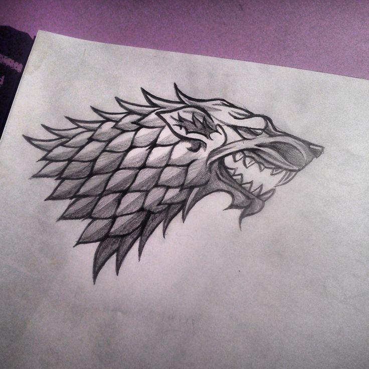 House Stark direwolf sigil aka the tattoo near my ankle XD