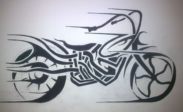 Two Wheels Move The Soul Tribal Motorcycle Art Body