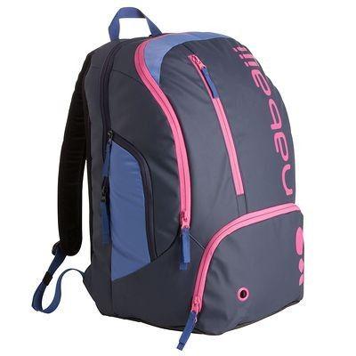 #mochila #entrenamiento #natación - Mochila de natación con compartimentos para guardar fácilmente todo el material. http://www.decathlon.es/mochila-34-l-azul-rosa-id_8319582.html