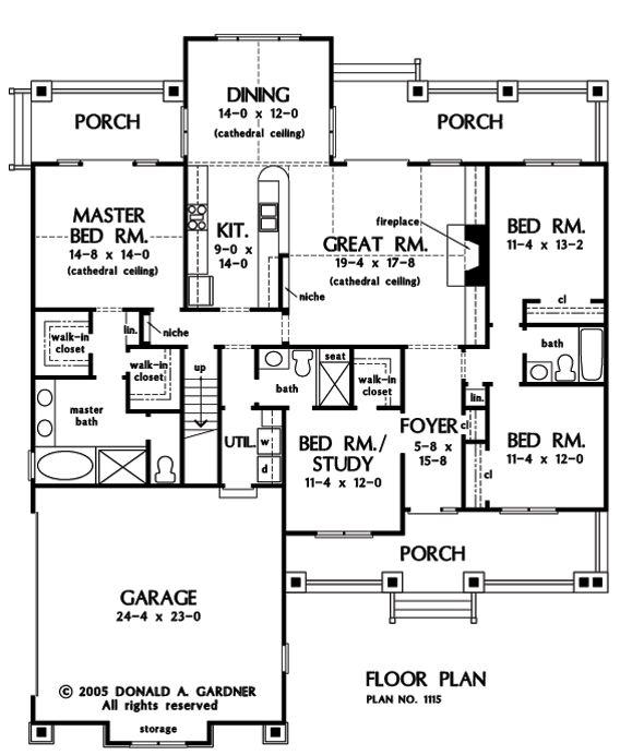 19 best Don Gardner house plans images on Pinterest | House floor ...