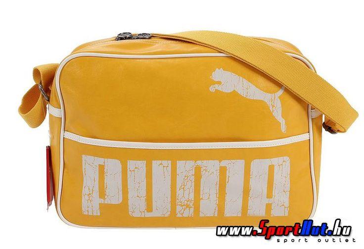 Puma oldaltáska - Retro stílusú sárga Puma táska