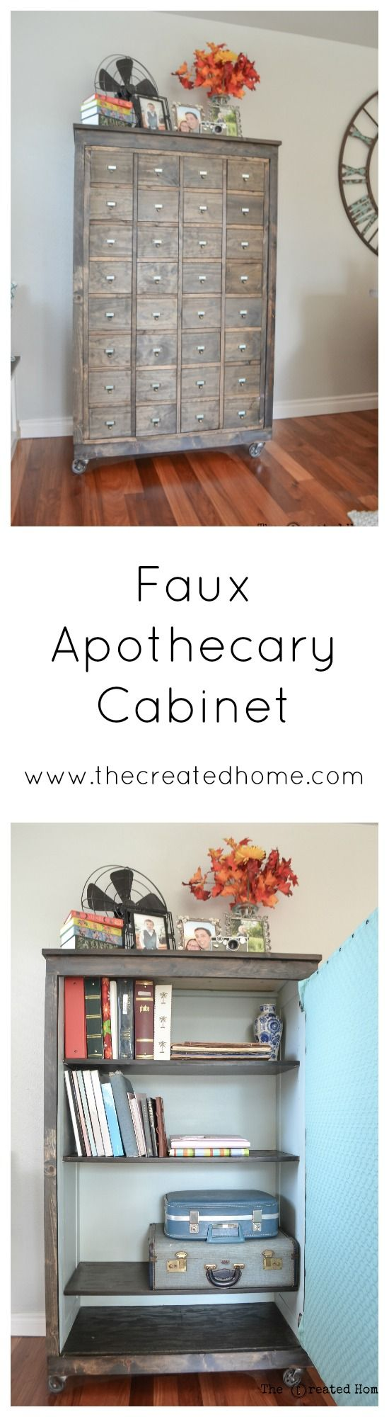DIY Faux apothecary cabinet
