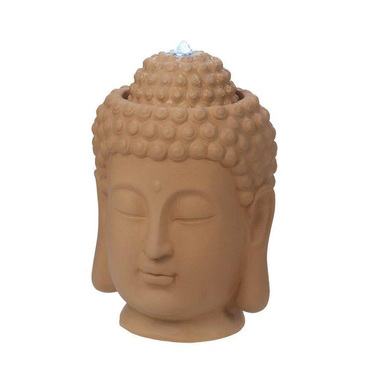 Zen Buddha Head Indoor Water Fountain