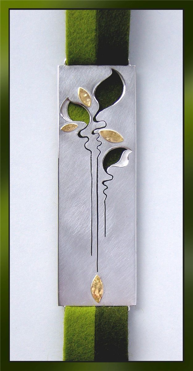 Bookmark that can be worn as a pendant - Art Jewelry Magazine - Online Community, Forums, Blogs, and Photo Galleries