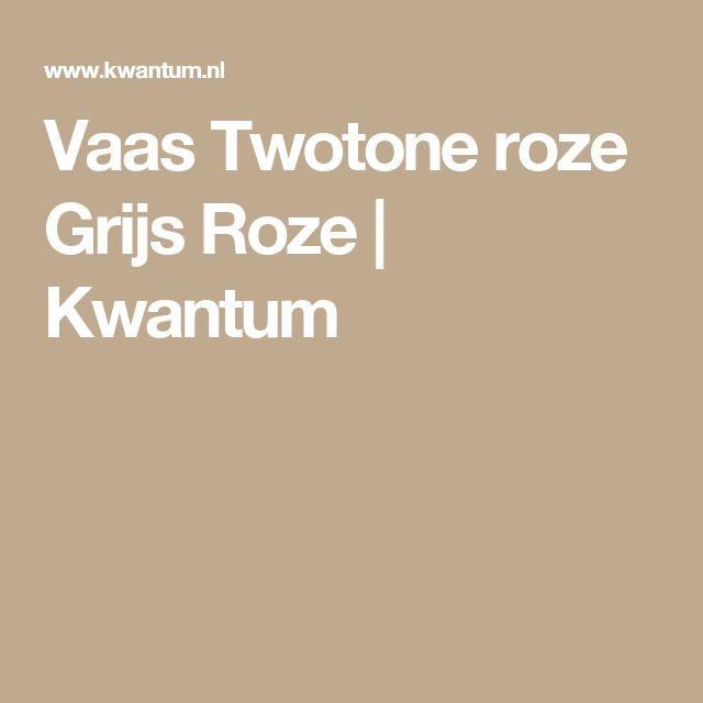 Vaas Twotone roze Grijs Roze | Kwantum