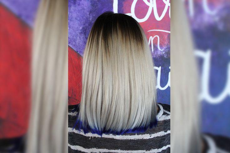 Blonde hair - blue hair www.eltallerdelpelo.com