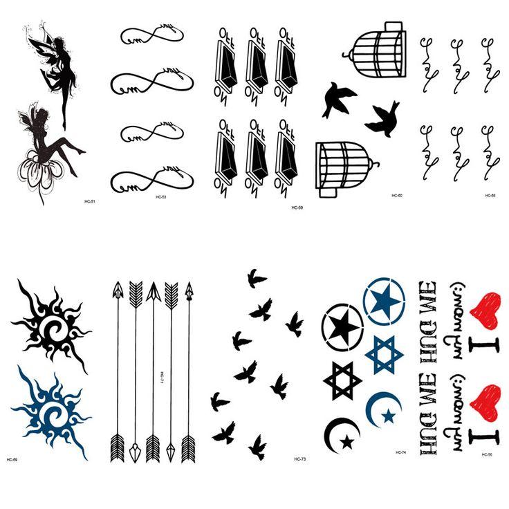 HC51-75 Многоцветный Женщины Сексуальные Палец Флэш Поддельные Татуировки Наклейки Свобода Мелких Птиц Летать Водонепроницаемый Временные Татуировки Наклейки #men, #hats, #watches, #belts, #fashion, #style