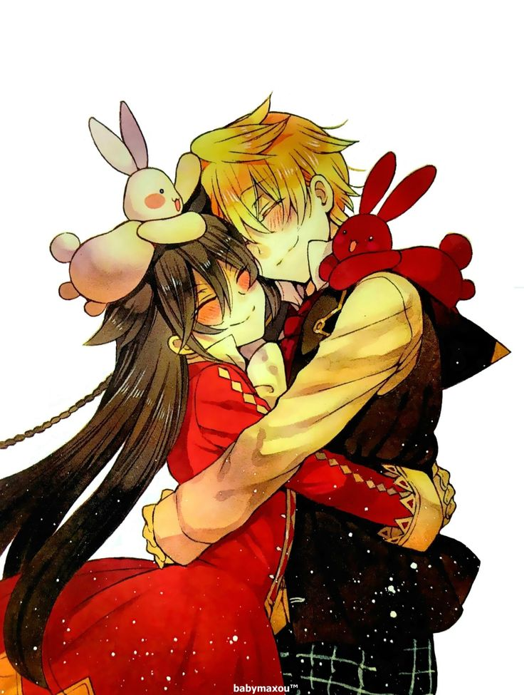 Pandora Hearts alice and oz hugging like cuties X3