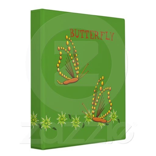 Butterfly Vinyl Binders