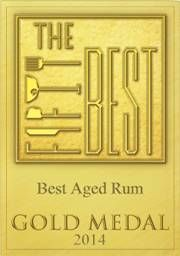 Richland Rum Gold Medal 91 points Exceptional at The Fifty Best 2014
