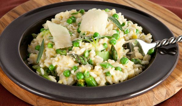 Asparagus, Pea and Fava Bean Risotto