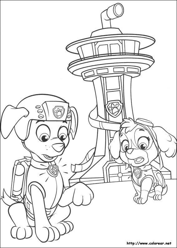 Dibujo De Para Imprimir Paw Patrol Coloring Pages Paw Patrol Coloring Paw Patrol Christmas