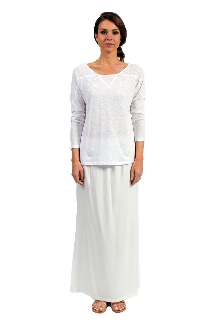 Portofino Long Sleeve T Blanc - Surafina