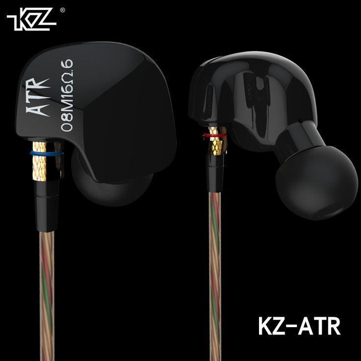 New KZ ATR In Ear Noise Canceling Earbuds 3.5mm Stereo Earphone Original KZ Mp3 Ear Hook Sport HiFi Earphone With Mic