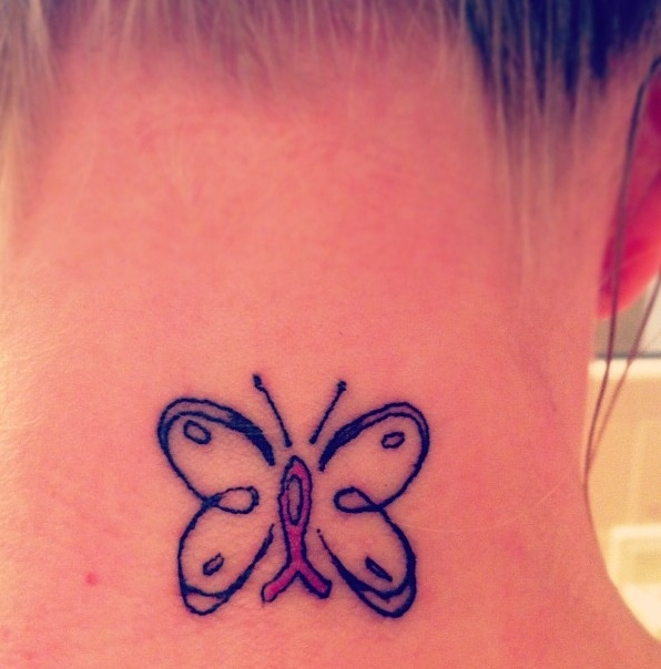 Breast cancer butterfly tattoo tattoos pinterest for Butterfly breast tattoos