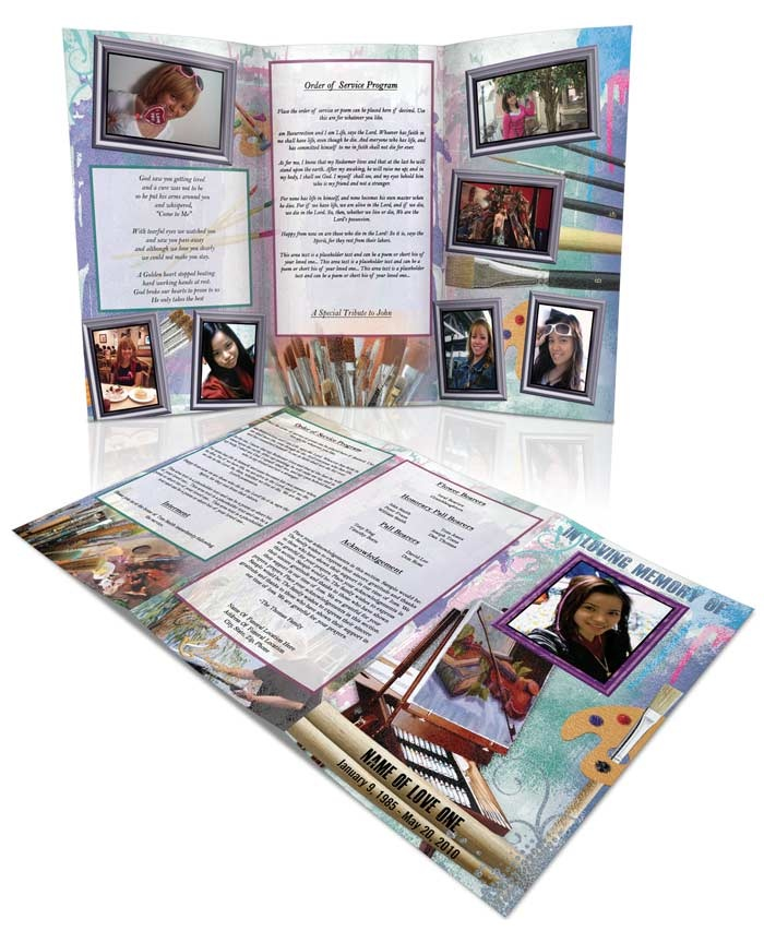 funeral brochure templates - 139 best funeral program templates thank you cards