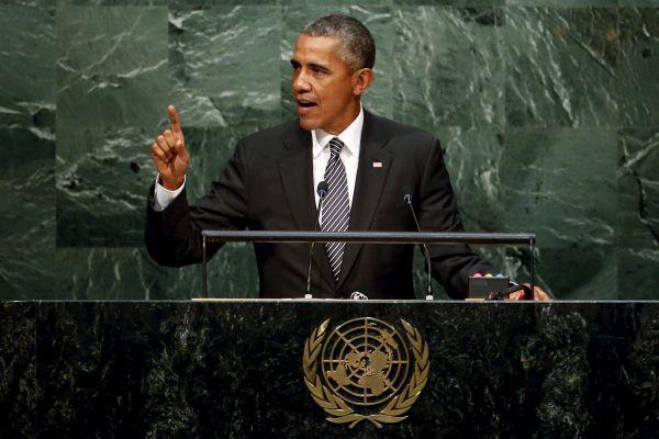 Новая порция демократии от Барака Обамы в ООН.                29 сентября. Нью-Йорк. Сессия Генассамблеи ООН. У трибу...