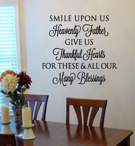 Smile upon us Heavenly Father Prayer Vinyl by designstudiosigns, $37.00