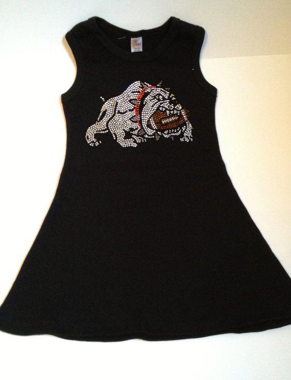 Black or Red University of Georgia Bulldogs  Toddler / Girls Dress