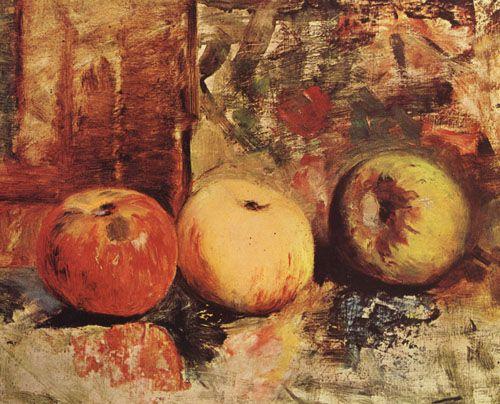 MANZANAS,  Óleo sobre Tela 34 x 43 cm Museo Nacional de Bellas Artes