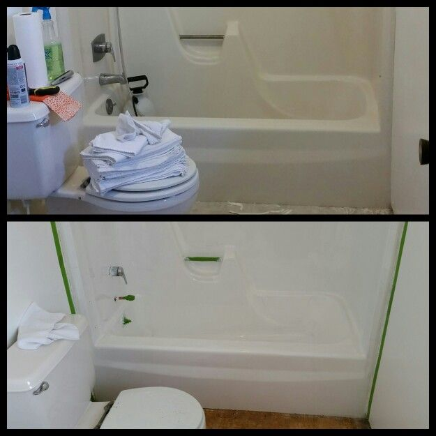 Before And After Rustoleum Tub And Tile Kit I Am So Happy