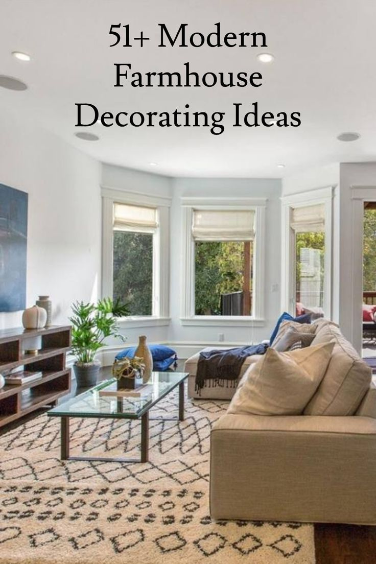 51+ Rustic Farmhouse Living Room Decor Ideas in 2019 ...