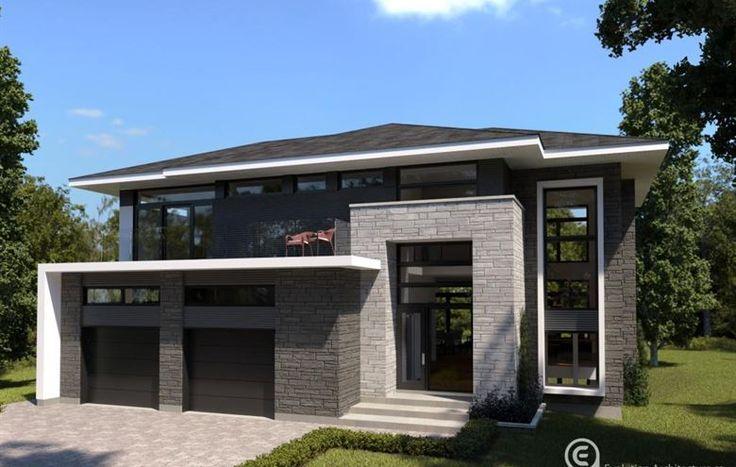 Modèle Maison Carrée  Modèle de Maison neuve à vendre à Carignan - modeles de maison a construire