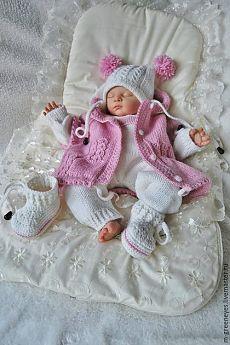 """Купить Комплект """"Розовое суфле"""" - костюм для девочки, на выписку, с собой в роддом, в роддом, для малыша вещи"""