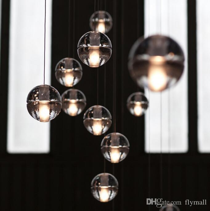 Grosshandel Led Kristallglas Kugel Hngende Lampe Meteor Regen Deckenleuchte Meteorische Dusche Treppen Stab Droplight Kronleuchter Lichter Ac110 240v