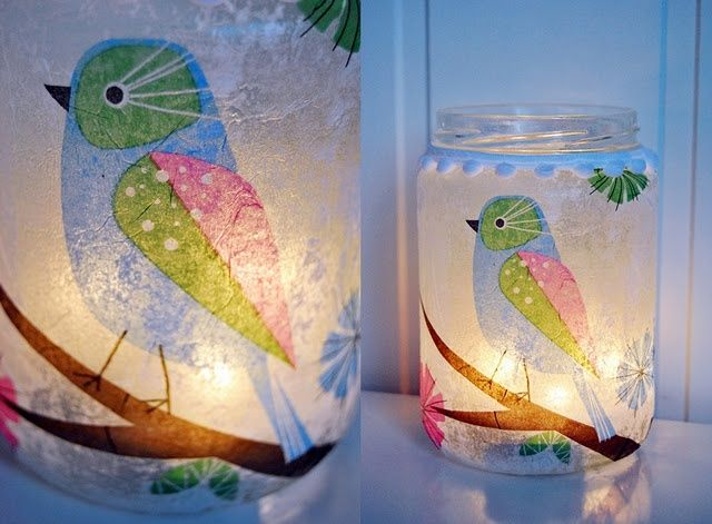 55 ideas of decoupage on the glass and walkthrough-02