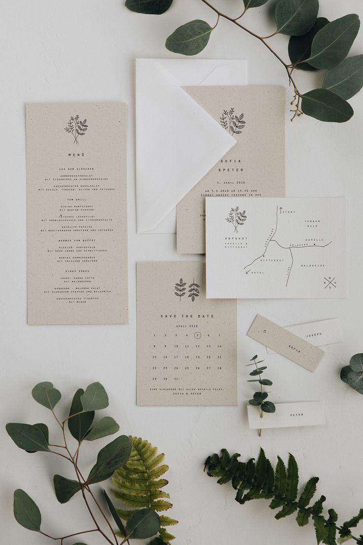 Invitaciones de boda y alquiler de decoración desde Traumanufaktur hasta diseño escandinavo y mediterráneo